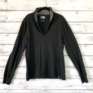 Men's Black North Face Sweater Pull-Over